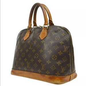 LOUIS VUITTON ALMA HAND BAG PURSE MONOGRAM VINTAGE